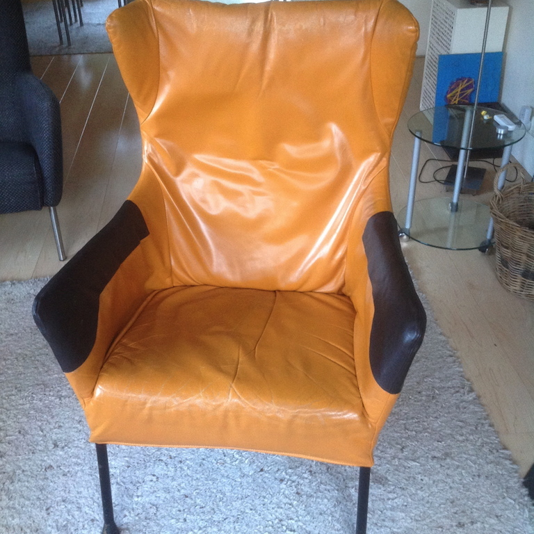 DIY restoration of a leather chair
