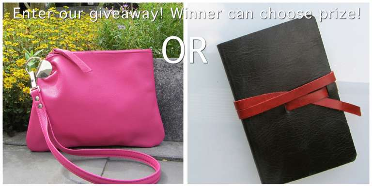 Facebook fan Giveaway! Win a Zipper Pouch or a Luxury Notebook!